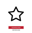 favorite icon in modern style for web site and vector image vector image