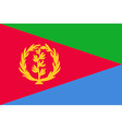 Flag of Eritrea vector image vector image