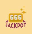 flat icon on stylish background jackpot lucky vector image vector image