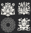 floral and geometry design elements vector image vector image