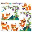 fox and grapes vector image vector image