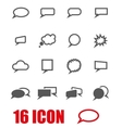 grey speach bubbles icon set vector image