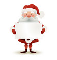 happy character of santa claus holding a christmas vector image vector image