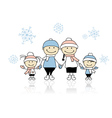 Happy family smiling together christmas holiday vector image vector image