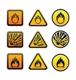 Hazard warning symbols set vector image vector image