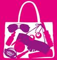 lady handbag vector image vector image