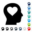 love in head icon vector image vector image