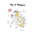 map philippines watercolor vector image