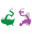 Money printing vector image vector image
