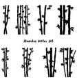 monochrome bamboo set vector image