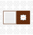 notepad design with orange geometric pattern