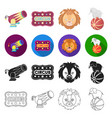 number circus entertainment and other web icon vector image