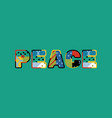 peace concept word art vector image vector image