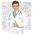 physician vector image