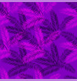 purple and pink palm seamless pattern vector image vector image