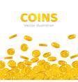 rain gold pounds cartoon frame vector image