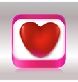 Red heart in a gift box vector image