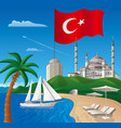 resort journey in turkey vector image vector image