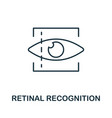 retinal recognition thin line icon creative vector image