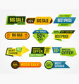 sale stickers price tag label banner sticker or vector image