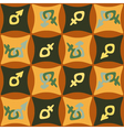 seamless abstract background with gender symbols vector image vector image