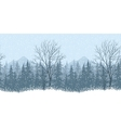 Seamless winter landscape vector image vector image