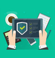 security verification check list digital test on vector image