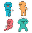 set of pain people vector image