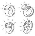 set wedding ring vector image
