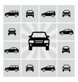 side and front car silhouettes icons vector image vector image