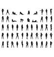 silhouettes girls vector image vector image