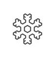 snowflake line icon vector image vector image