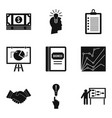 special computer icons set simple style vector image vector image