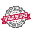 special delivery stamp sign seal vector image vector image
