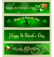 St Patricks Day headers or banners set vector image vector image