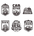 suv 4x4 off-road travel tour club Icon logo vector image vector image