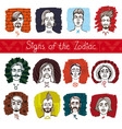 The Zodiac in persons vector image
