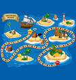 treasure island pirate board game map ocean route