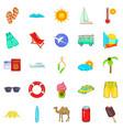 trek icons set cartoon style vector image vector image