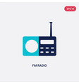 two color fm radio icon from hardware concept vector image