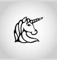 unicorn isolated on white background vector image vector image