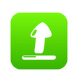 upload icon green vector image
