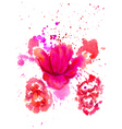 Watercolor Flower2 vector image