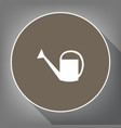 watering sign white icon on brown circle vector image