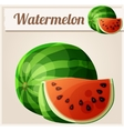 watermelon cartoon icon vector image