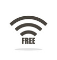 wifi icon in flat style black color white vector image vector image