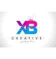 xb x b letter logo with shattered broken blue vector image vector image