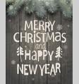 xmas and new year holiday greeting card vector image