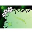 Background with football motif vector image