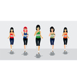 Female Runners vector image